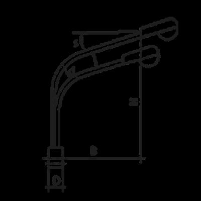 Кронштейн К2К (двухрожковый)