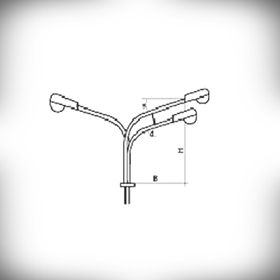 Кронштейн К3К (трехрожковый)