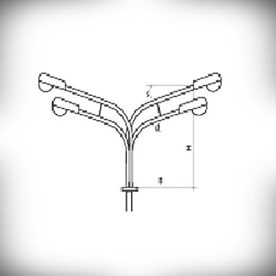 Кронштейн К4К (четырехрожковый)