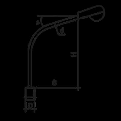 Кронштейн К1К (однорожковый)