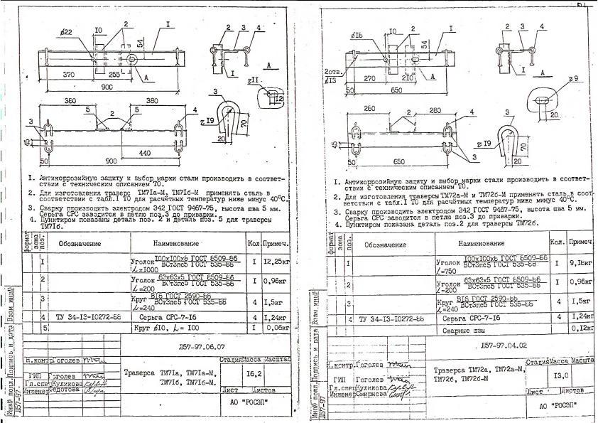 Траверса ТМ72а, ТМ72аМ, ТМ72б, ТМ72бМ (Л57-97)-949,76 руб.
